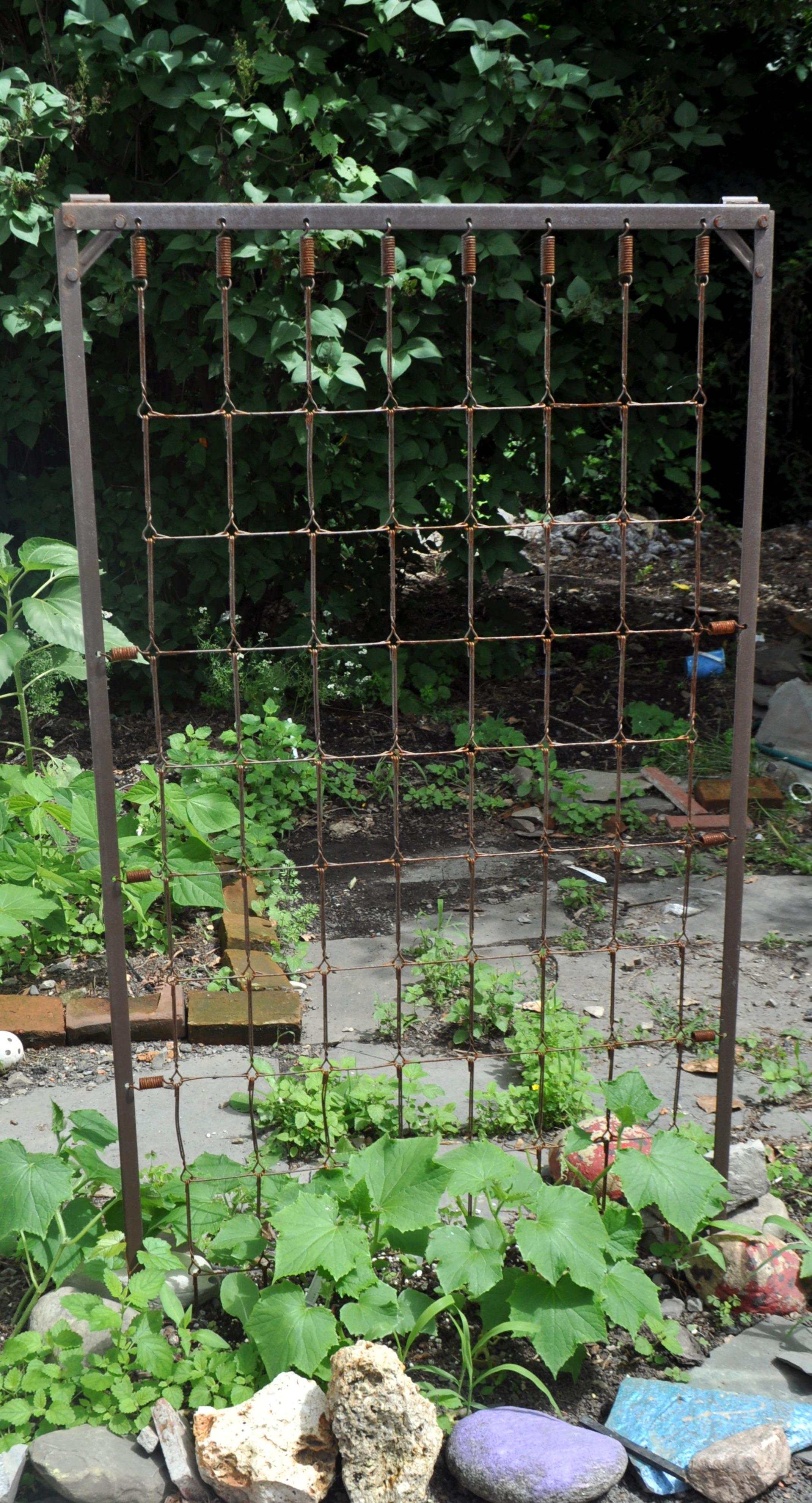 My Upcycled Cucumber Trellis Poor As Folk