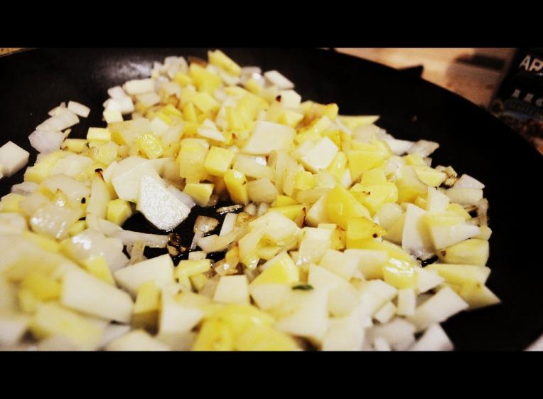 Taters,onion,garlic