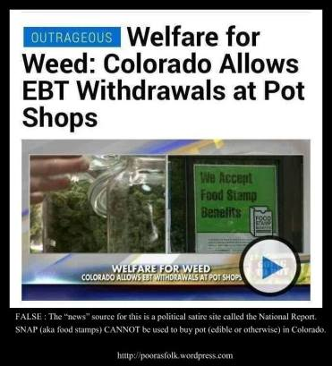 No You Cant Use Food Stamps To Buy Pot In Colorado