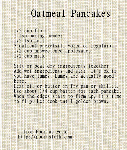 Pantry Anarchy: Oatmeal Pancakes